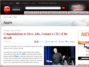 Congratulations to Steve Jobs, Fortune's CEO of the decade | Apple - CNET News