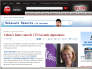 Yahoo's Bartz cancels CES keynote appearance | Relevant Results - CNET News