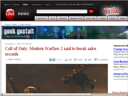 Call of Duty: Modern Warfare 2 said to break sales records | Geek Gestalt - CNET News