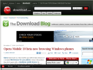 Opera Mobile 10 beta now browsing Windows phones | The Download Blog - Download.com
