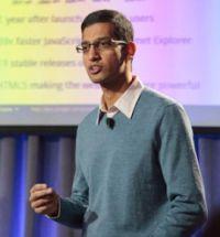 米国時間11月19日、Chrome OS搭載可能なネットブックについて考えを語るプロダクトマネジメント担当バイスプレジデントSundar Pichai氏