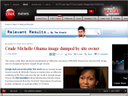 Crude Michelle Obama image dumped by site owner | Relevant Results - CNET News