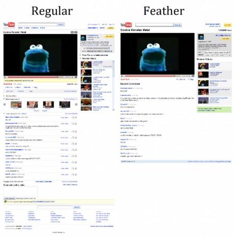 通常版とfeather版比較