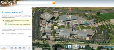 MicrosoftのStreetsideカメラはまだ、アンフィシアターパークウェイの先にあるGoogle本社までは到達していない。サンフランシスコベイエリアのかなりの部分についてもまだ地図が完成していないし、米国中部地域については言うまでもない。