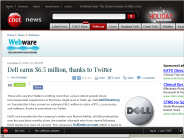 Dell earns $6.5 million, thanks to Twitter | Webware - CNET