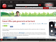 Patent Office puts green tech on fast track | Green Tech - CNET News