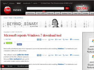 Microsoft reposts Windows 7 download tool | Beyond Binary - CNET News