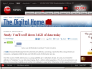Study: You'll wolf down 34GB of data today | The Digital Home - CNET News