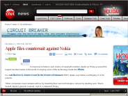 Apple files countersuit against Nokia | Circuit Breaker - CNET News