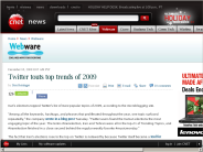 Twitter touts top trends of 2009 | Webware - CNET