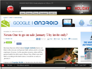 Nexus One to go on sale January 5 by invite only? | Android Atlas - CNET Blogs
