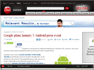 Google plans January 5 Android press event | Relevant Results - CNET News