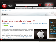 Report: Apple event to be held January 26 | Apple - CNET News