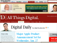 Apple Product Announcement Scheduled in San Francisco Wednesday, Jan. 27 | John Paczkowski | Digital Daily | AllThingsD