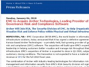EMC to Acquire Archer Technologies, Leading Provider of IT Governance Risk and Compliance Software