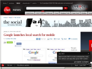 Google launches local search for mobile | The Social - CNET News