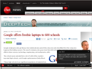 Google offers freebie laptops to 600 schools | Deep Tech - CNET News