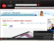 Apple lawyer confirms tablet existence? | Circuit Breaker - CNET News