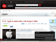 WSJ: Apple in tablet talks with HarperCollins | Apple - CNET News