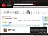 Bill Gates joins Twitter | Beyond Binary - CNET News