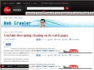 YouTube does spring cleaning on its watch pages | Web Crawler - CNET News