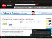 T-Mobile data issues hit Nexus One owners | Relevant Results - CNET News