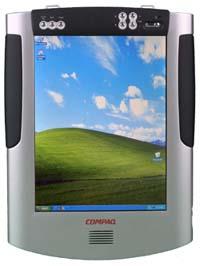 Bill Gates氏は2001年のCOMDEXトレードショーで、このCompaq製タブレットPCのプロトタイプを披露した。