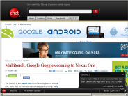 Multitouch, Google Goggles coming to Nexus One | Android Atlas - CNET Blogs