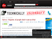 Survey: Majority of people don't want an iPad | Technically Incorrect - CNET News