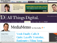 Video Site Veoh Lays Off Staff, Plans Bankruptcy Filing | Peter Kafka | MediaMemo | AllThingsD