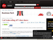 Carl Icahn selling off Yahoo shares | Business Tech - CNET News
