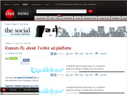Rumors fly about Twitter ad platform | The Social - CNET News