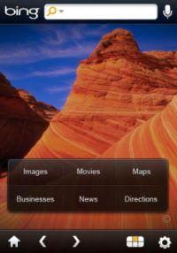 iPhoneアプリ版Bing