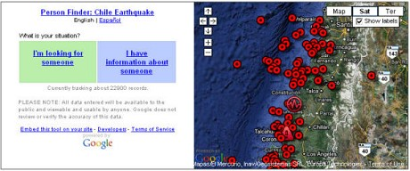 Person Finder: Chile Earthquake